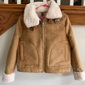 NWOT Suede/Faux Fur Jacket